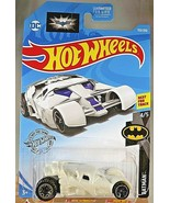 2019 Hot Wheels #153 Batman 4/5 THE DARK KNIGHT BATMOBILE White w/Gray B... - $6.50