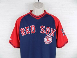 Boston Red Sox Men's Baseball Pullover Jersey Size M MLB Stitches Logo P... - $21.75