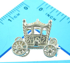 British Welded Bliss Sterling 925 Silver Charm Opening Royal Carriage Coach - $38.92