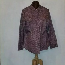 L.L Bean Floral Button Collar Shirt Plus Size 3X Long Sleeve Pocket - $19.99