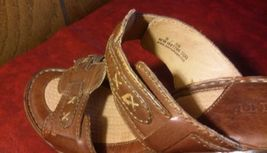 8 Shoes Heels Mules Slides 39 Wedge Size Sandals Leather Born Clogs Brown qE0nFvxwY