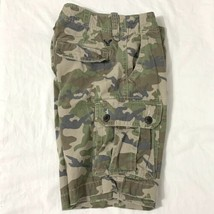 American Eagle Outfitter AEO Camo Distressed Cargo Shorts 6 Pocket Mens ... - $23.75