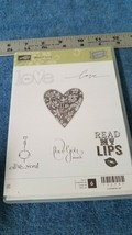 Stampin' Up! Best of Love Clear Mount Stamp Set Valentine's Day, lips NEW - $9.50