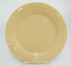 "Longaberger Pottery Woven Traditions Butternut Yellow Luncheon Plate 9"" Marks - $14.84"