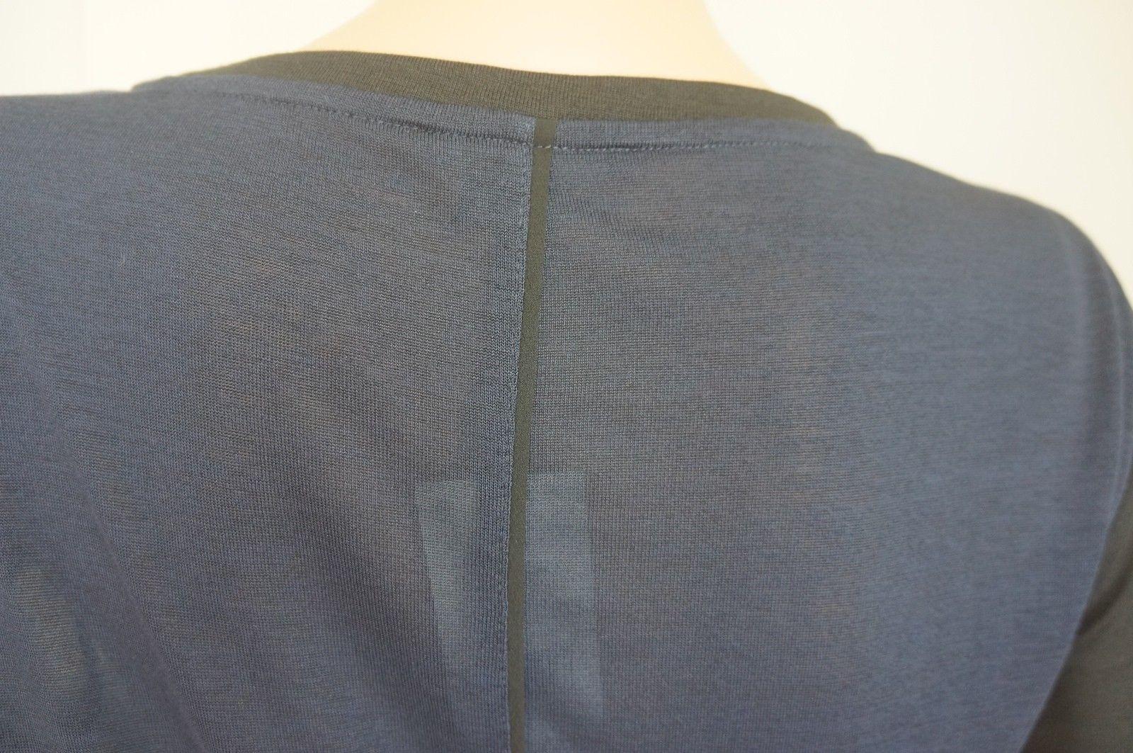 $135+NEW Vince Black/Dark Blue Top T-shirt Blouse Sz S