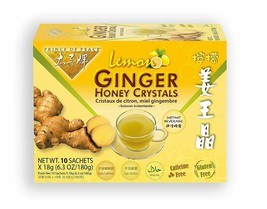 Prince of Peace Instant Lemon Ginger Honey Crystals, 10 Sachets - $9.89+