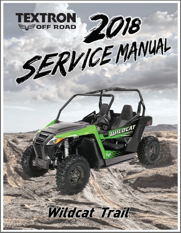 2018 Arctic Cat Wildcat Trail Service Manual on a CD