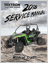 2018 Arctic Cat Wildcat Trail Service Manual on a CD - $12.00