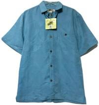 Joe Marlin Mens Mallard Blue Button Hawaiian Shirt Size Medium New - $19.70