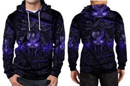 Black panther purple neon hoodie fullprint men thumb200