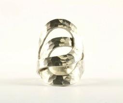 Vintage Loop Design Hammered Ring 925 Sterling Rg 1921-E - $20.99