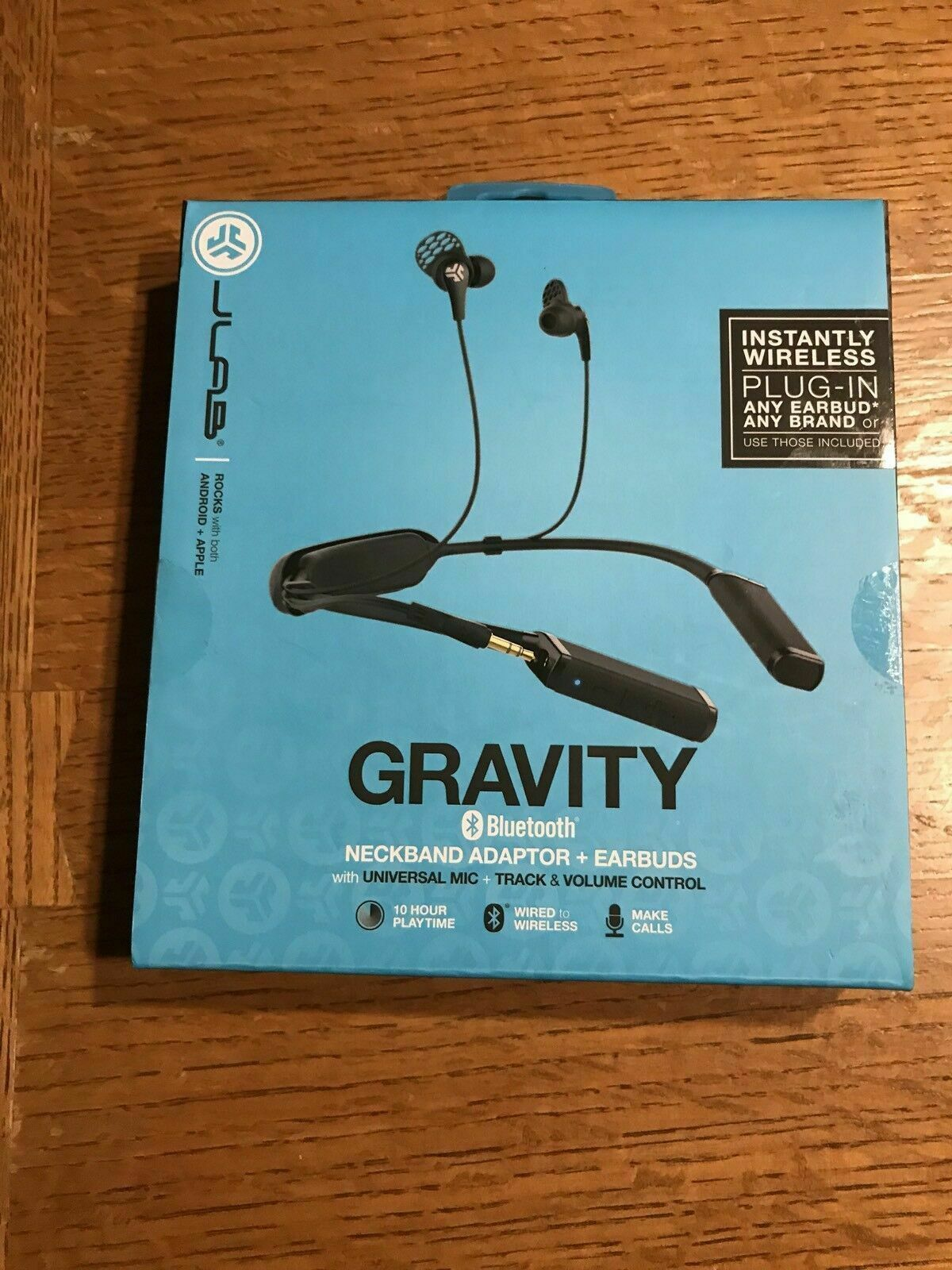 JLab Audio Gravity Bluetooth Wireless Neckband - Titanium 10mm Drivers 10 Hour