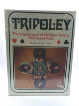 Vintage Cadaco 1969 Tripoley Deluxe Layout Only Michigan Rummy Hearts & ... - $49.49