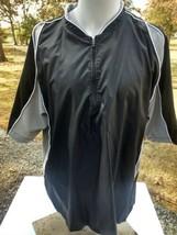 Men's Mizuno Jog Baseball Golf Short Sleeve 1/4 Zip Pullover Jacket Wind... - $14.77