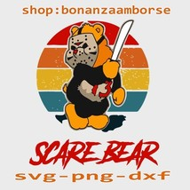 scare bear, halloween svg, png, dxf - $1.99