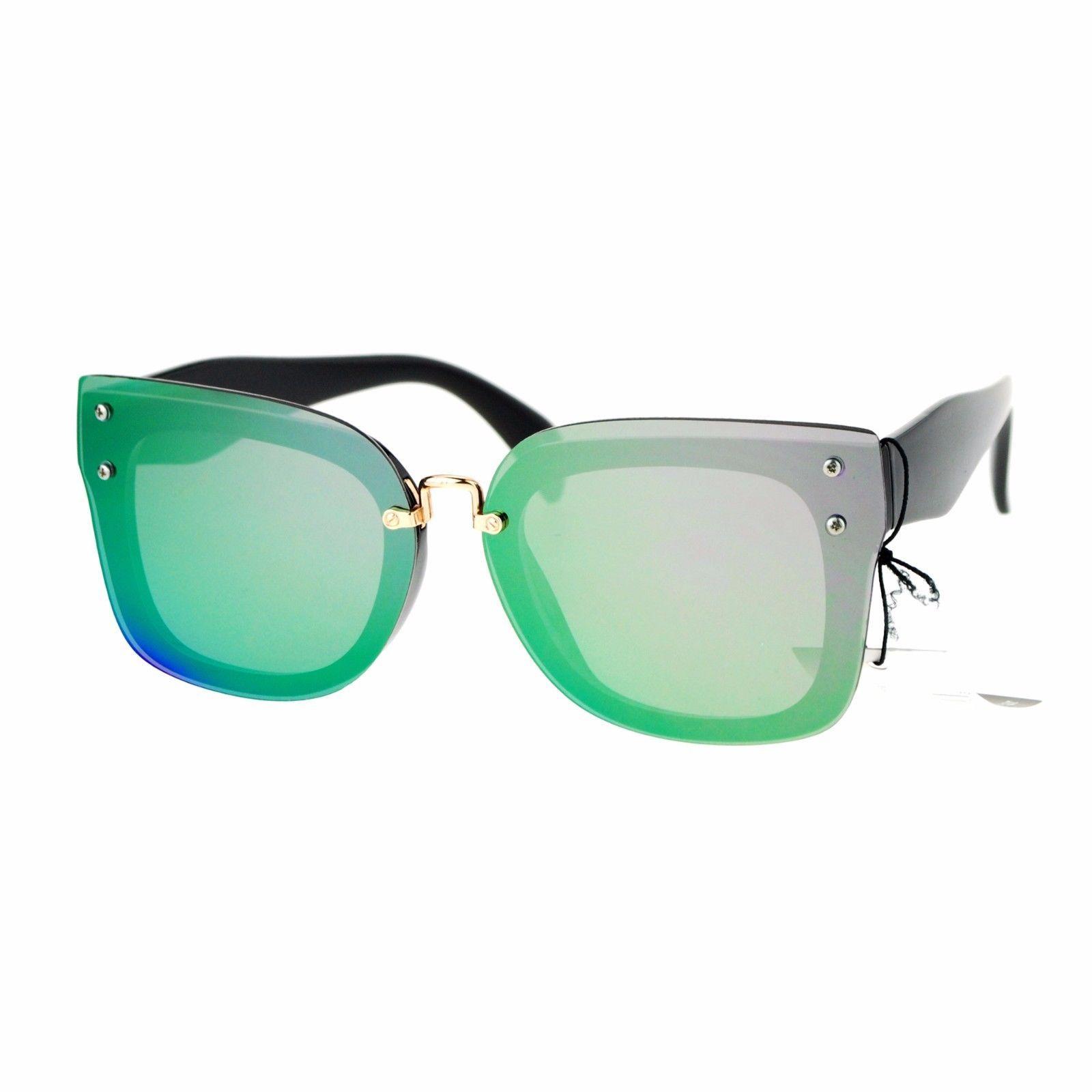 Rims Behind Lens Sunglasses Womens Square Designer Fashion Shades