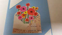 Multi colored floral greeting card.  - $3.50