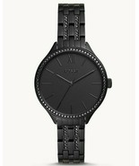 Fossil Suitor Stainless Steel  BQ3438 Black Tone Women's Watch MSRP $155 - $74.98