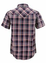 Men's Casual Short Sleeve Western Button Down Plaid Pearl Snap Cowboy Shirt image 2