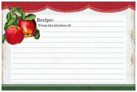 Vintage Apples Recipe Card - $5.99
