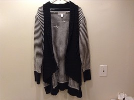 Pure Energy Women's Black/White Wrap Sweater Sz 1X