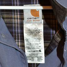 Carhartt Chore Women's Blue Dusk Flannel Lined Coat Jacket Size 2XL image 3