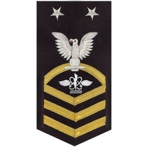 NAVY E9 MALE RATING BADGE: AVIATION ANTI-SUBMARINE WARFARE OPERATOR - VA... - $52.45