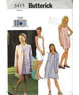 GIRLS JACKET & DRESS SIZE 7-8-10 BUTTERICK SEWING PATTERN #3415 - $9.86