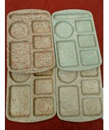 Vintage PROLON Melmac Melamine LUNCH TRAY 6 Compartment  - Lot Of 4 - $19.97