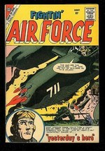 FIGHTIN' AIR FORCE #22 1960-CHARLTON WAR COMIC-GLANZMAN VF - $56.75