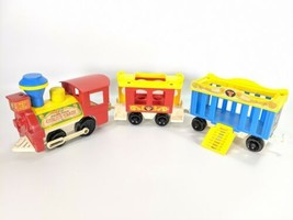 Vintage Fisher Price Little People Play Family Circus Train Animals People - $20.95
