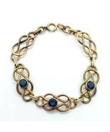 "Carl Art Vintage 12k Gold-Filled Blue Rhinestone Bracelet 7.5"" FREE Ship... - $39.59"