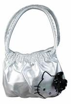 Hello Kitty Silver Mini Bubble Bag Black Sequin Bow image 1