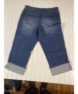talbots capri jeans stretch size 12 Floral Pattern On Fold - $24.52