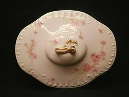 Antique Haviland Limoges France Vegetable Bowl Lid (ONLY) Pink Cornflowe... - $19.79