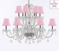 Murano Venetian Style All Empress Crystal (Tm) Chandelier! with Stars and Shades - $307.71