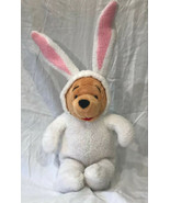 Disney Store WINNIE the POOH Plush in EASTER BUNNY Costume  - $19.69