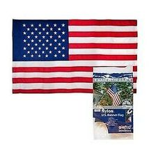 Pole sleeved AMERICAN FLAG 2.5 X 4 Ft Sewn Stripes Embroid Stars US. MADE IN US image 3