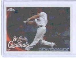 2010 Topps Chrome Baseball Card # 44 Matt Holliday - St. Louis Cardinals - MLB T - $0.97