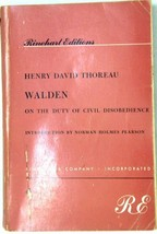 Walden, On the Duty of Civil Disobedience (Rinehart Editions) [Paperback] [Ja... - $1.32
