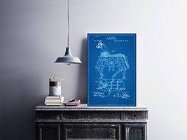 "Mechanical Horse Patent - Blueprint Style - Art Print - 18"" tall x 12"" wide - $16.00"