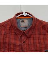 5.11 Tactical Mens Checked Shirt Red Medium - $25.71