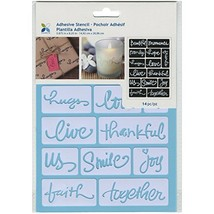 """Momenta ST-252-25235 Adhesive Stencil, 6"""" by 8"""", Beautiful Words - $8.25"""