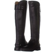 Franco Sarto Henrietta Knee High Boots 073, Black Leather, 5.5 US / 35.5 EU - $54.71