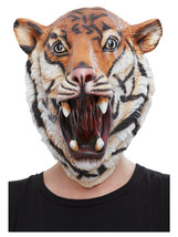 Adult Mens Ladies Novelty Funny Tiger Stag Hen Night Fancy Dress Animal Mask - $36.09