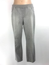 CHICO'S Platinum Size 2 Stretch Cropped Jeans Gray - $17.99