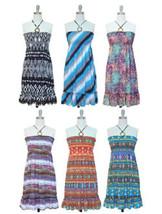 2dfce109056 NWT Women O Ring Ruffle Woven Rayon Smocked Self-Tie Straps Dress by Jon   amp
