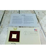 U.S. Flag 1992 Olympics 22kt Golden Replica Stamp 1991 First Day Stamp  - $19.79