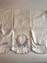 Beautiful Vintage Pillow Case With Spring Colors - $6.35