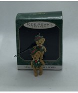 Hallmark Mini Ornament Teddy Bear Style 1997 Cute Christmas NIB - $9.49